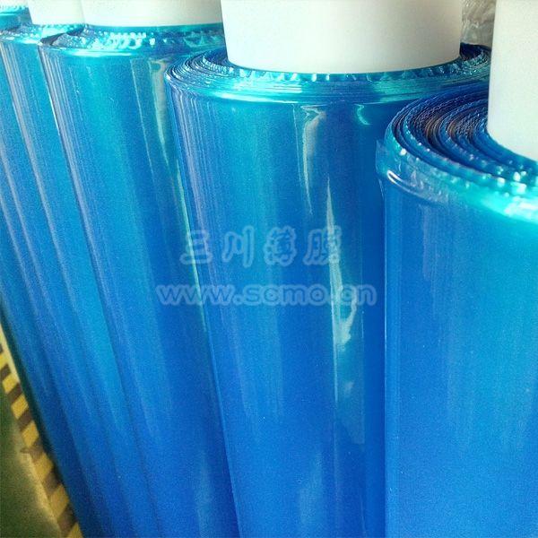 蓝色网纹膜